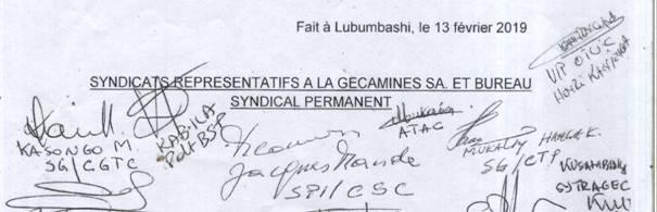 gécamines signature